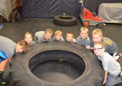 Youth wrestlers feats of strength